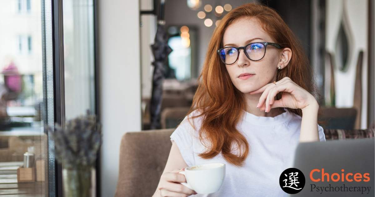 Core Values, woman drinking coffee