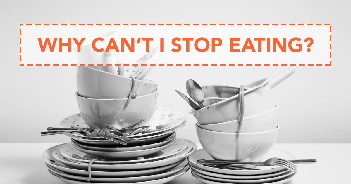 binge eating, dirty dishes