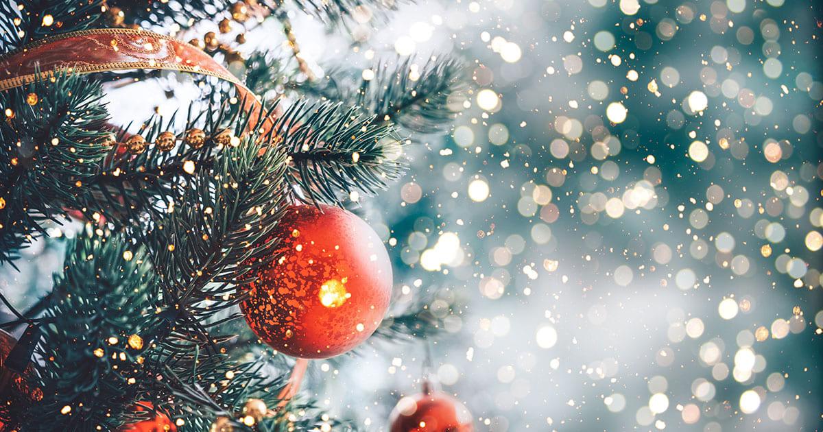 holiday stress, christmas tree bulb