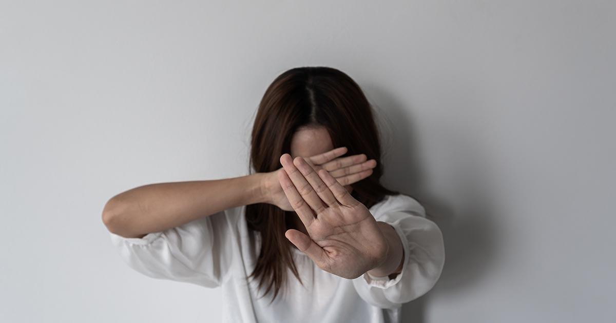 Steps to Recover from Rape and Sexual Trauma, woman looking down