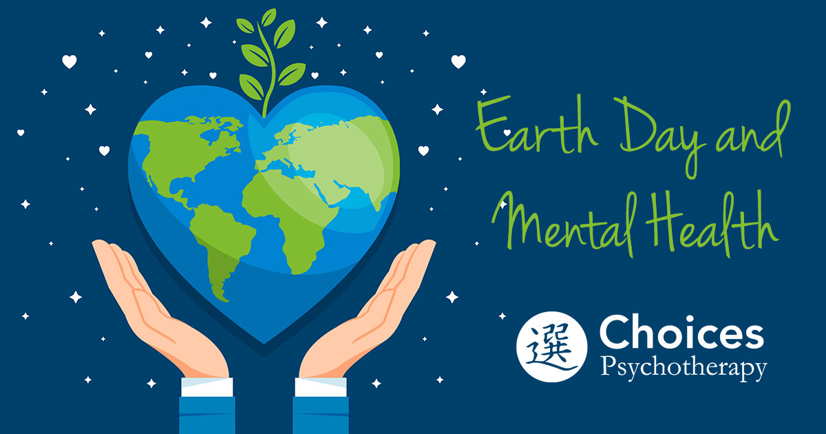 Earth Day, hands holding up heart-shaped earth