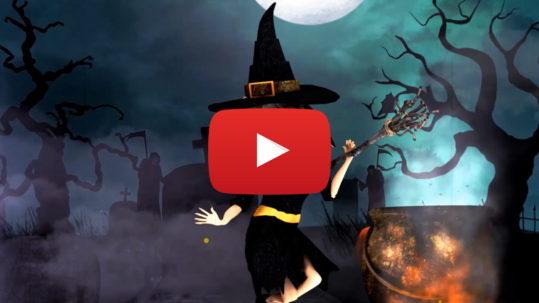 Halloween video, witch dancing