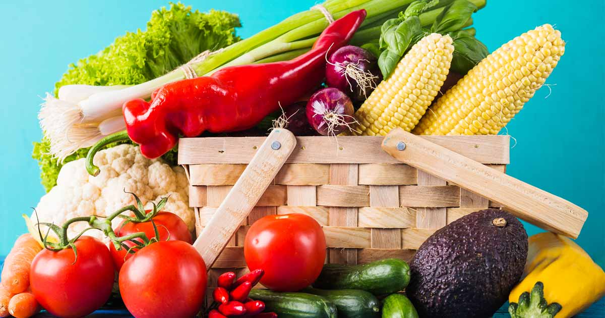 Nutrition Counseling, basket of fruits and vegetables