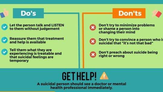 suicide do's and don'ts information