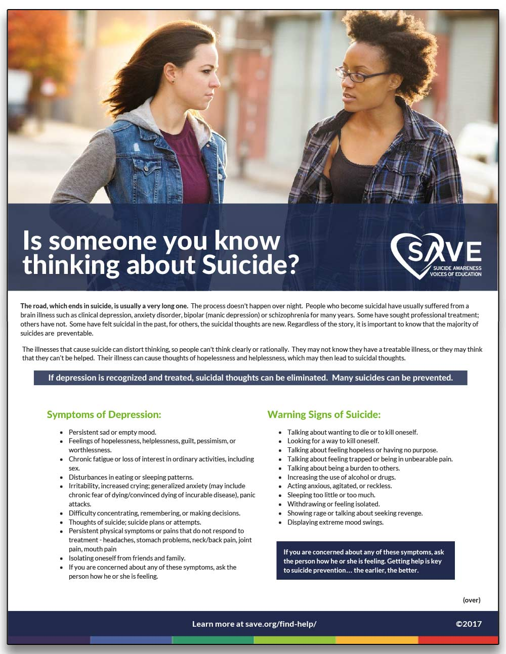 information sheet about suicide