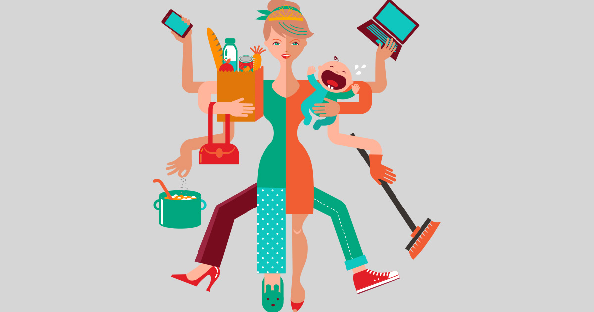Women's Issues, woman multitasking
